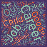 Word Cloud Text Background Concept. How To Help Your Child Find A 21st Century Career text background wordcloud concept Royalty Free Stock Photography