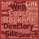 Word Cloud Text Background Concept. How to Hunt for Big Game Backlinks text background wordcloud concept Stock Images