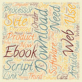 Word Cloud Text Background Concept. How To Make Money With Downloadables text background wordcloud concept royalty free stock images