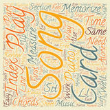 Word Cloud Text Background Concept. How To Memorize A Song The Easy Way text background wordcloud concept Royalty Free Stock Photography