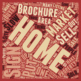Word Cloud Text Background Concept. How to Sell Your Home in a Slow Market text background wordcloud concept stock image
