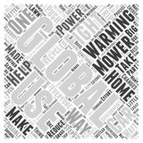 Word Cloud Text Background Concept. How You Can Fight Global Warming at Home word cloud concept Royalty Free Stock Images