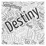 Word Cloud Text Background Concept. I know my destiny can I change it text background wordcloud concept Stock Photography