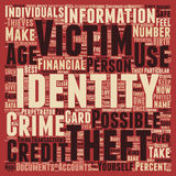 Word Cloud Text Background Concept. Identity theft text background wordcloud concept Stock Photo
