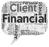 Word Cloud Text Background Concept. The Importance Of A Financial Advisor text background wordcloud concept Stock Photos