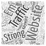 Word Cloud Text Background Concept. Increase Website Traffic with SEO Services text background wordcloud concept Stock Photo