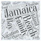 Word Cloud Text Background Concept. Jamaica family vacation word cloud concept vector illustration