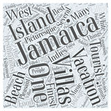 Word Cloud Text Background Concept. Jamaica vacation villas word cloud concept stock illustration