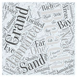 Word Cloud Text Background Concept. Jamaican beaches word cloud concept royalty free illustration
