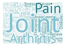 Word Cloud Text Background Concept. Joint Pain Relief text background word cloud concept Stock Images