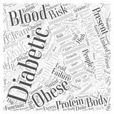 Word Cloud Text Background Concept. Kidney Problems in Diabetics who are Obese word cloud concept Royalty Free Stock Photos
