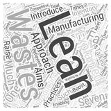 Word Cloud Text Background Concept. Lean manufacturing explained word cloud concept Stock Photos
