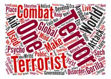 Word Cloud Text Background Concept. Let us learn to live with gorilla terrorism Word Cloud Concept Text Background Stock Images