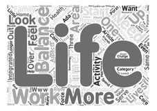 Word Cloud Text Background Concept. Life Balance Mastery or Myth text background word cloud concept Stock Images