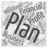 Word Cloud Text Background Concept. Make A Financial Plan And Work The Plan word cloud concept Royalty Free Stock Photos