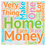 Word Cloud Text Background Concept. Make Money From Home text background wordcloud concept Stock Photography