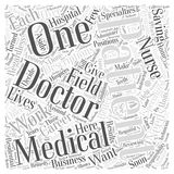 Word Cloud Text Background Concept. Medical Career Descriptions word cloud concept Royalty Free Stock Image