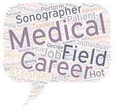 Word Cloud Text Background Concept. Medical field careers text background wordcloud concept Royalty Free Stock Images