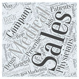 Word Cloud Text Background Concept. Medical supply sales careers word cloud concept Stock Photography