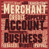 Word Cloud Text Background Concept. Merchant Accounts For Beginners text background wordcloud concept Stock Photography