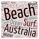 Word Cloud Text Background Concept. The Most Beautiful Beaches In Australia text background wordcloud concept stock illustration
