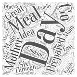 Word Cloud Text Background Concept. Mothers Day Cooking Made Easy word cloud concept Stock Photos