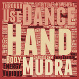 Word Cloud Text Background Concept. Mudras Hand Symbolism Hand Mysteries Part 3 text background wordcloud concept Royalty Free Stock Photography
