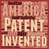 Word Cloud Text Background Concept. Patents American Greatness text background wordcloud concept Stock Photography