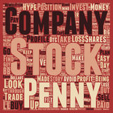 Word Cloud Text Background Concept. Penny Stocks Turn Your Pennies Into Dollars text background wordcloud concept Stock Image