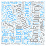 Word Cloud Text Background Concept. Personal Loan After Bankruptcy Can You Qualify text background wordcloud concept Royalty Free Stock Photo