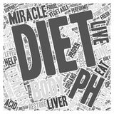 Word Cloud Text Background Concept. The pH miracle diet as a cleansing diet word cloud concept Stock Photo