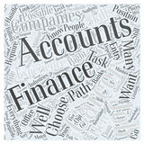 Word Cloud Text Background Concept. Is It Possible to Have an Accounting Career in Finance word cloud concept Stock Image