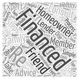 Word Cloud Text Background Concept. Seek Recommendations When Re Financing word cloud concept Stock Images