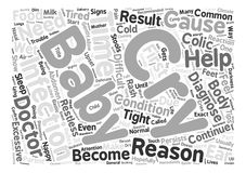 Word Cloud Text Background Concept. Some Reasons That A Baby May Cry text background word cloud concept Stock Image