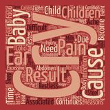 Word Cloud Text Background Concept. Some Reasons Why Babies Cry text background word cloud concept Royalty Free Stock Images