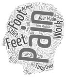 Word Cloud Text Background Concept. Sore Feet Foot Pain The simple facts and the cures text background wordcloud concept Stock Photography