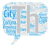 Word Cloud Text Background Concept. Spanish Galicia text background word cloud concept Stock Photo