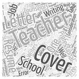 Word Cloud Text Background Concept. Special Cover Letter Considerations For Teachers word cloud concept Royalty Free Stock Photos