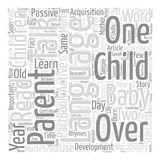 Word Cloud Text Background Concept. Talk Your Child Clever text background word cloud concept Stock Image