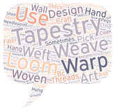 Word Cloud Text Background Concept. Tapestry Start to Finish text background wordcloud concept Stock Photography