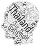 Word Cloud Text Background Concept. Thailand Heart Of Asia Holidays text background wordcloud concept royalty free illustration