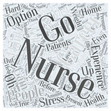 Word Cloud Text Background Concept. What are Your Options for Careers with Nursing Experience word cloud concept Stock Photos