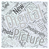 Word Cloud Text Background Concept. Why Digital Photography word cloud concept Royalty Free Stock Image