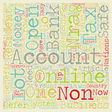 Word Cloud Text Background Concept. Why should a non US resident open a US bank account text background wordcloud concept Royalty Free Stock Photography