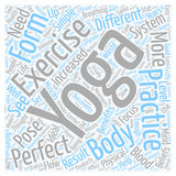 Word Cloud Text Background Concept. Is Yoga the Perfect Exercise text background wordcloud concept Royalty Free Stock Photo