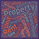 Word Cloud Text Background Concept. Before You Buy Your Apartment Complex text background wordcloud concept royalty free stock images