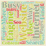 Word Cloud Text Background Concept. So you have a website but can people find it text background wordcloud concept Royalty Free Stock Photography