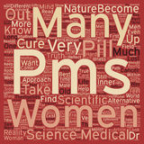 Word Cloud Text Background Concept. Is your PMS a curse that pushes you to buy a cure at any price text background wordcloud concept Stock Photos