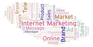Word cloud with text Internet Marketing. royalty free illustration