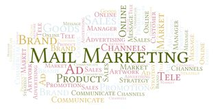 Word cloud with text Mail Marketing. Wordcloud made with text only vector illustration